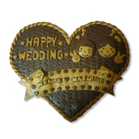 ハートの結婚記念プレート